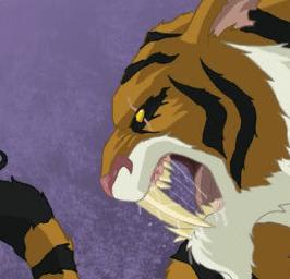 Tiger's head Blood on my Mind