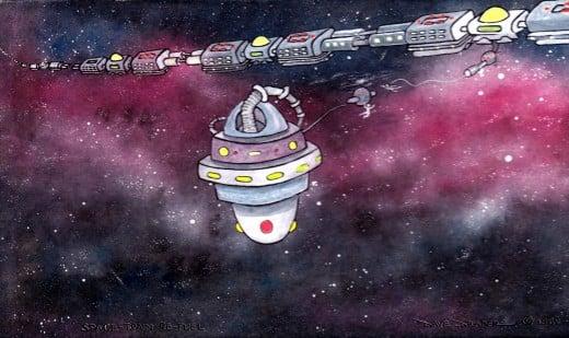 Space Train Refuel